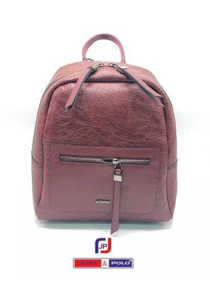 Just Polo 2014 Model Bordo Renk Modern Sırt Çantası